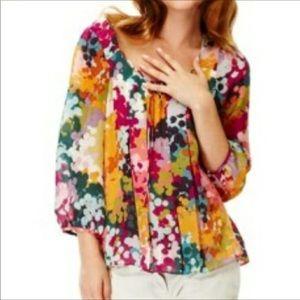 Anthropologie/ Leifsdottir watercolor blouse